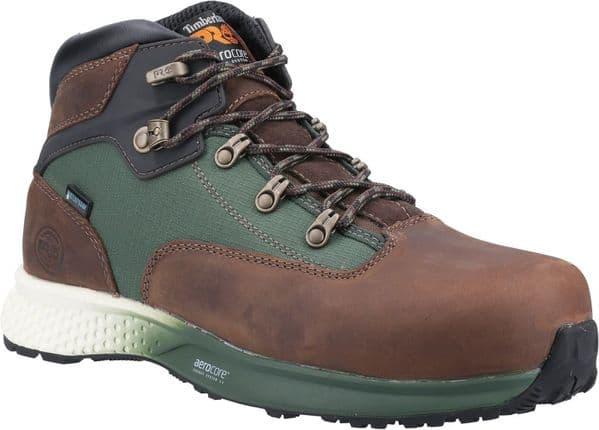 Timberland Pro Euro Hiker Hiker Safety Footwear Brown / Green